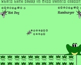 Frog and Fly Themed Attendance & Lunch Counter