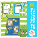 Frog and Lily Pads Shape Sorting Mats