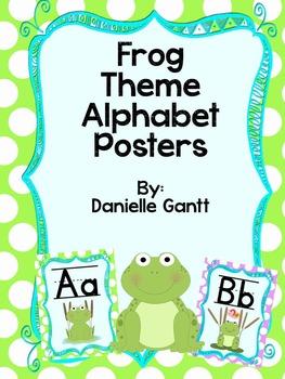 Frog and Polka Dot Theme Alphabet Posters