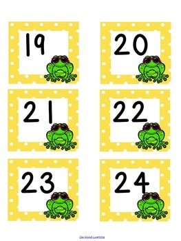 Frog and Polka Dot Themed Calendar Set w/Days of the Week