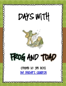 Frog and Toad Activities: Days With Frog and Toad