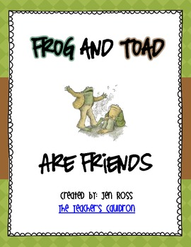 Zany image throughout frog and toad are friends printable activities