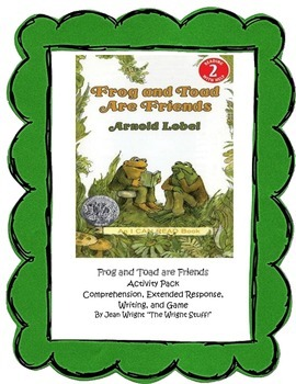 Frog and Toad are Friends Activity Pack