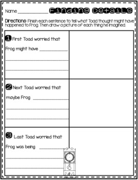 """Frog and Toad All Year - Activities for """"Christmas Eve"""""""