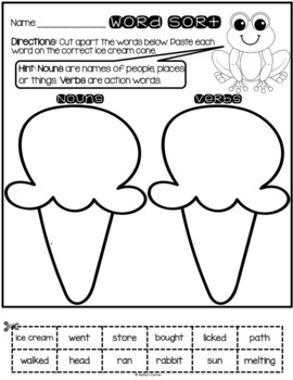 """Frog and Toad All Year - Activities for """"Ice Cream"""""""
