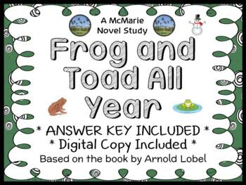 Frog and Toad All Year (Arnold Lobel) Novel Study / Comprehension  (19 pages)
