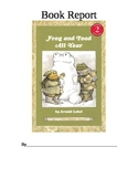 Frog and Toad All Year Book Report Booklet