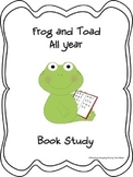 Frog and Toad All Year  Book Study Graphic Organizer