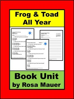 Frog and Toad All Year Book Unit
