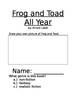 Frog and Toad All Year Long