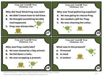 Frog and Toad All Year, 1st Grade Reading Comprehension Activities
