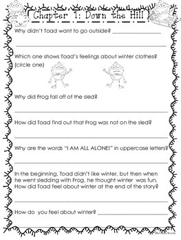 Frog and Toad All Year: Reading Comprehension Pack