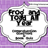Frog and Toad All Year--Reading Comprehension Packet