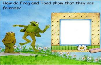Frog and Toad All Year SmartBoard comprehension activity