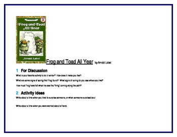 Frog and Toad All Year for Guided Reading