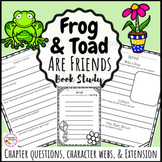 Frog and Toad Are Friends Book Study- Printable and Digital