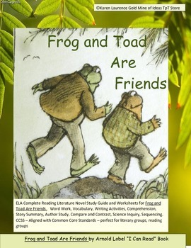 frog and toad are friends worksheets teaching resources teachers