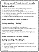 Frog and Toad Are Friends Guided Reading Novel Study Worksheets No Prep