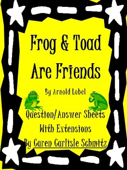 image regarding Frog and Toad Are Friends Printable Activities referred to as Frog and Toad Are Pals - QA Sheet, Pursuits Worksheets