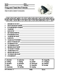 Frog and Toad Are Friends Secret Code Printable Worksheet