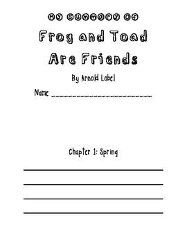 Frog and Toad Are Friends Summary Booklet