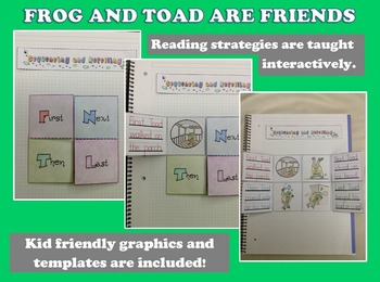 Frog and Toad Are Friends by Arnold Lobel: Novel Study and Interactive Notebook