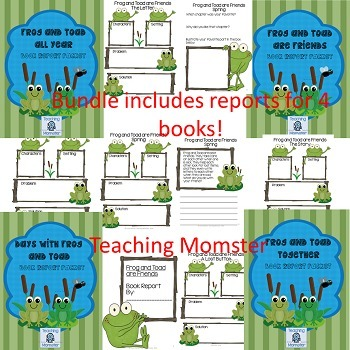 Frog and Toad Book Report Packet {BUNDLE}