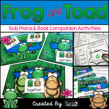 Sub Plans and Book Companion Activities ~ Frog and Toad