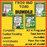 Frog and Toad Bundle 4 Books Guided Reading Novel Study Wo