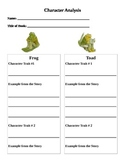 Frog and Toad Character Analysis