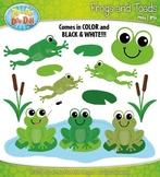 Frog and Toad Clipart {Zip-A-Dee-Doo-Dah Designs}