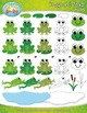 Frog and Toad Clipart {Zip-A-Dee-Doo-Dah Designs}