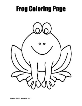 Frog and Toad Coloring Page Bundle