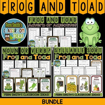 Frog and Toad Task Cards Center Games Printables and Interactive Notebook Pages