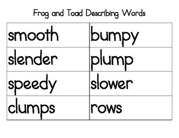 Frog and Toad Facts + Vocabulary