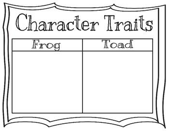 Frog and Toad Mini Unit