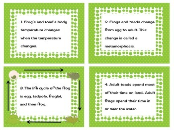 Frog and Toad QR Code Task Cards