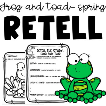 Frog and Toad 'SPRING'  read aloud print-and-go!