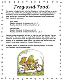Frog and Toad Story Mapping