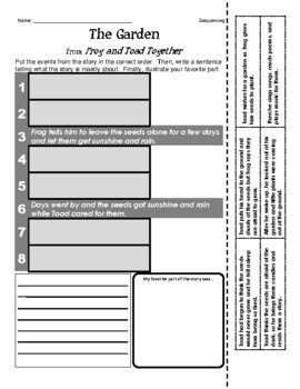 Frog and Toad: The Garden (Journeys Series) - Sequencing /