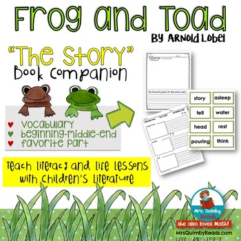 """Frog and Toad """"The Story"""" Literature Response   [Reading]"""