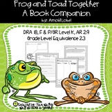 Frog and Toad Together  (A Book Companion for Comprehension)