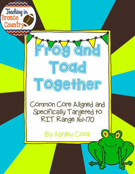 Frog and Toad Together Activities