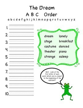 """Frog and Toad Together - Activities for """"The Dream"""""""