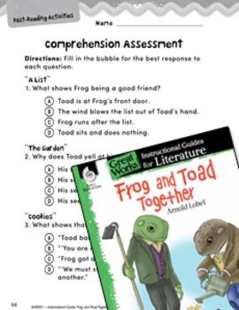 Frog and Toad Together Comprehension Assessment