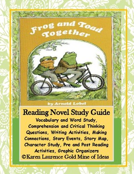 Frog and Toad Together Reading Novel Study Guide Teaching Unit
