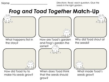 Frog and Toad Together - First Grade Foresman Reading Street Literacy Unit