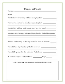 Frog and Toad Together Literacy Booklet