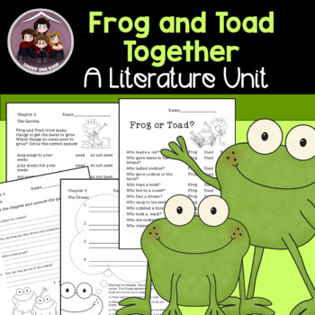 Frog and Toad Together Literature Study