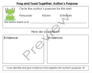 Frog and Toad Together Organizers & Writing Activities (Reading Street 3.4)
